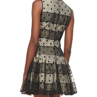 RED Valentino Mesh-Overlay Party Dress