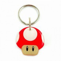 Red Super Mario Bro's Mushroom - Happy Tags