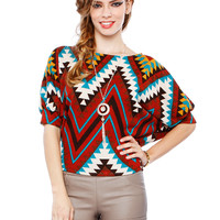 Papaya Clothing Online :: ZIGZAG COLORS TOP