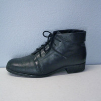 Vintage Black Leather Boots