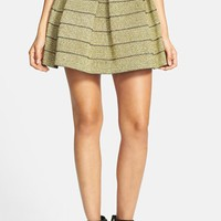 Devlin Metallic Pleated Skirt | Nordstrom