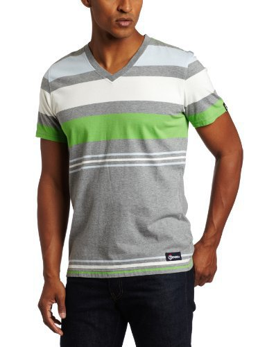 Generra Men&#x27;s Jersey Stripe Tee, Grey Tadpole, XX-Large