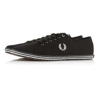 'Fred Perry' Black Canvas Trainers - New In - TOPMAN USA