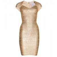 mytheresa.com - Tejana coated metallic bandage dress - Luxury Fashion for Women / Designer clothing, shoes, bags