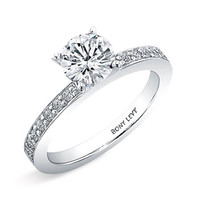 Bony Levy 'Bridal' Channel Set Diamond Semi Mo