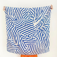 "Stripe Furoshiki Navy. ""Furoshiki"" Japanese multi wrapping cloth and scarf."