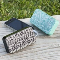 Pool Paisley + Black Tiki Must-Have Mini Speakers