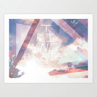 Triangulate Art Print by Ben Geiger