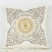 www.roomservicestore.com - Metallic Medallion Embroidered Pillow (Out of Stock)