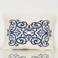 www.roomservicestore.com - Oceanic Embroidered Lumbar Pillow (Out of Stock)