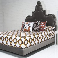 www.roomservicestore.com - Tangier Bed with Pulled Buttons