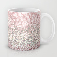 Girly Pink Snowfall Mug by Lisa Argyropoulos