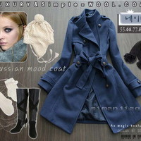 Blue Velvet Coat from Pop and Shop