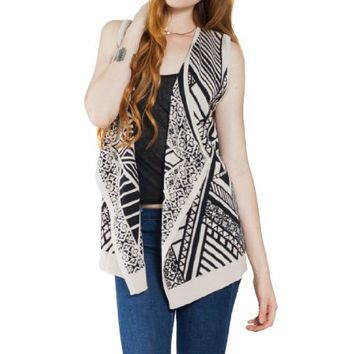 Flying Tomato Women's Aztec Print Sweater Vest