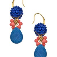 David Aubrey Gold Turquoise and Jade Amelie Earrings - Max & Chloe