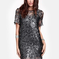 Night Ride Metallic Dress