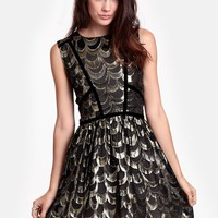 Velvet Binding Rulex Dress By Line & Dot