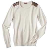 Merona® Women's Pullover Sweater w/Sequin Shoulder Detail - Assorted Colors