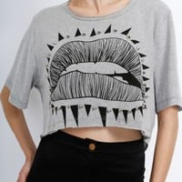 Lips Crop Top