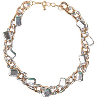 Gem-Embellished Chain Necklace | Arden B.