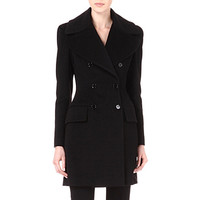 ALEXANDER MCQUEEN - Double-breasted cashmere coat | Selfridges.com