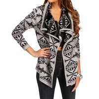 Heather GryBlack Aztec Sweater