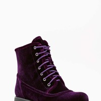 Shoe Cult Converge Combat Boot - Purple Velvet