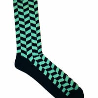 Deadstock Navy / Teal Socks