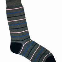 Deadstock Gray Striped Socks