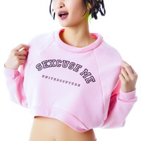 Sexcuse Me Cropped Sweat Shirt
