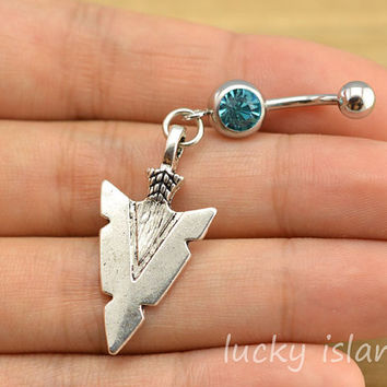 Belly ring belly button jewe from luckyisland on wanelo for Belly button jewelry store