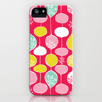 Snowflake Holiday Bobbles iPhone & iPod Case by Heather Dutton