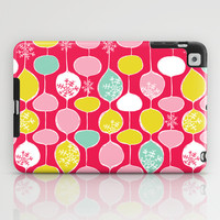 Snowflake Holiday Bobbles iPad Case by Heather Dutton