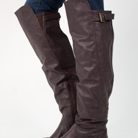 Mocha Brown Over The Knee Riding Boot