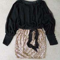 Sparkling Darling Dress in Black