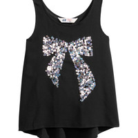 H&M - Chiffon Tank Top - Black - Kids