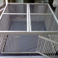 "A Distinctive ""Home within a Home"" Indoor Pet Ex-pen - Ready-to-Finish Solid Maple with Top Cover"