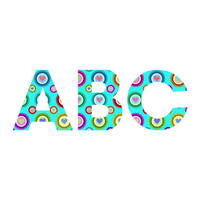 Lisa Argyropoulos Love Love Love Aquamint Decorative Letters