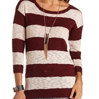 STRIPED KNIT SWEATER TUNIC