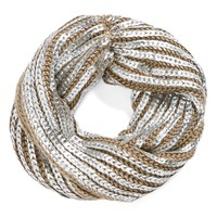 Ribbed Metallic Snood