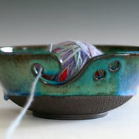 LARGE Yarn Bowl, handmade stoneware pottery,handmade ceramic yarn bowl, READY TO Ship,
