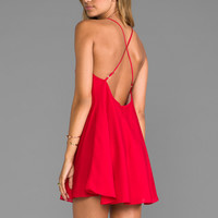 Naven Babydoll Dress in Red