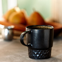 Hammered Mug - Black, 14 fl oz