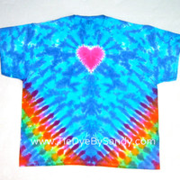 3XL heart Tie Dye Shirt