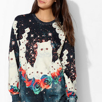 Aloha From Deer Cat Pullover Sweatshirt - Urban Outfitters