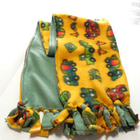 Construction Vehicles Polar Fleece Scarf Double Layer Childrens Scarf