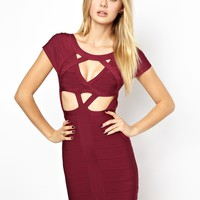 Arrogant Cat London Mesh Bandage Bodycon Dress with Cut Out