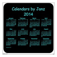 2014 Wall Calendar Decal - Large 48 x 48 Room Decals