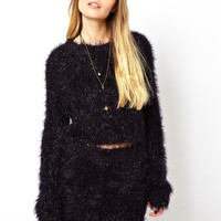 ASOS Cropped Tinsel Jumper