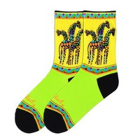 Rainbow Giraffes Socks